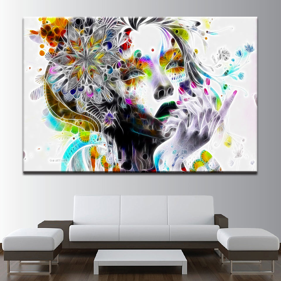 PSYCHEDELIC GIRL Canvas Wall Art Decor Of Psychedelic Art