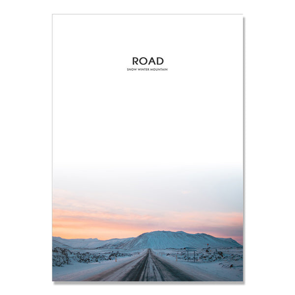 Snow Mountain Highway Wall Art Canvas Painting Posters And Prints Nordic Poster Wall Pictures For Living Room Cuadros Unframed
