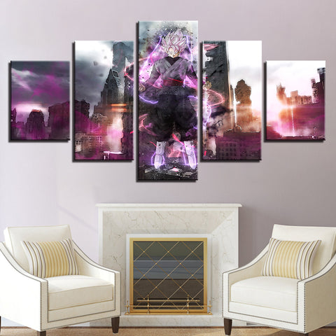 Art HD Printed Framework Decoration Living Room Wall 5 Pieces Anime Dragons Ball Pictures Modular Poster Canvas Modern Paintings