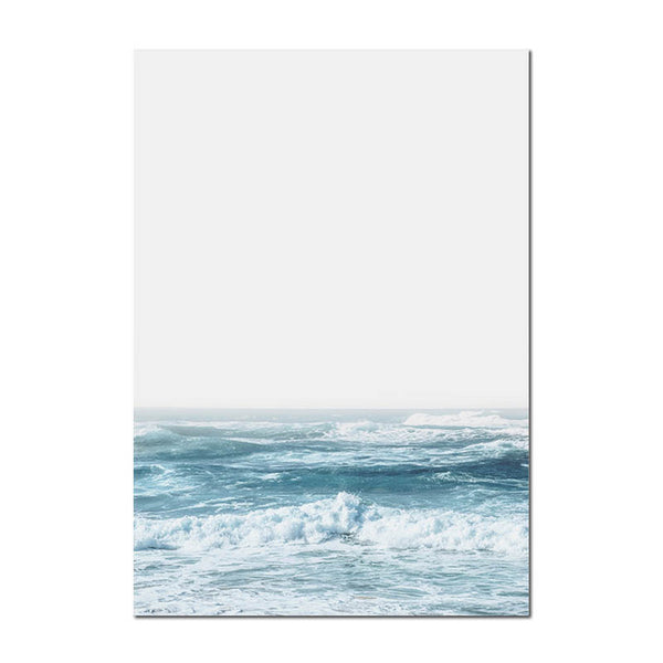 Scandinavian Sea Waves Wall Art Canvas Paintings Landscape Ocean Coastal Nordic Posters and Prints Decorative Picture Home Decor