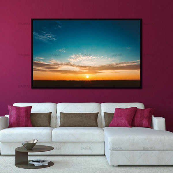 Wall art picture decoration for living room canvas Landscape sunrise view Canvas Painting morden print 1 Panel unframed