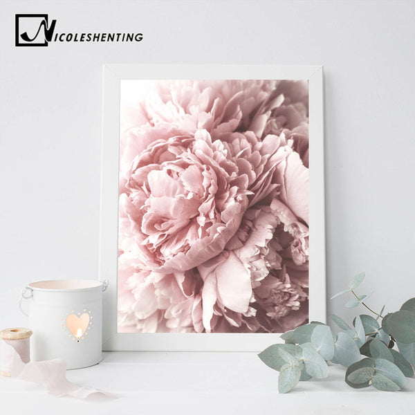 Scandinavian Flower Canvas Art Nordic Wall Painting Prints Nursery Pink Floral Poster Quote Decoration Picture Modern Home Decor