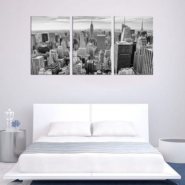 Wall Art Black and White Canvas Painting Wall Decor Empire State Building New York City Skyline Contemporary Picture Home Decor