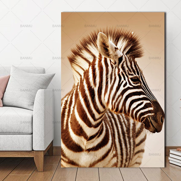 Abstract Wall Picture Poster  Living Room Art Decoration Scandinavian Zebra Stripes Nordic  Canvas Painting Prints No Frame