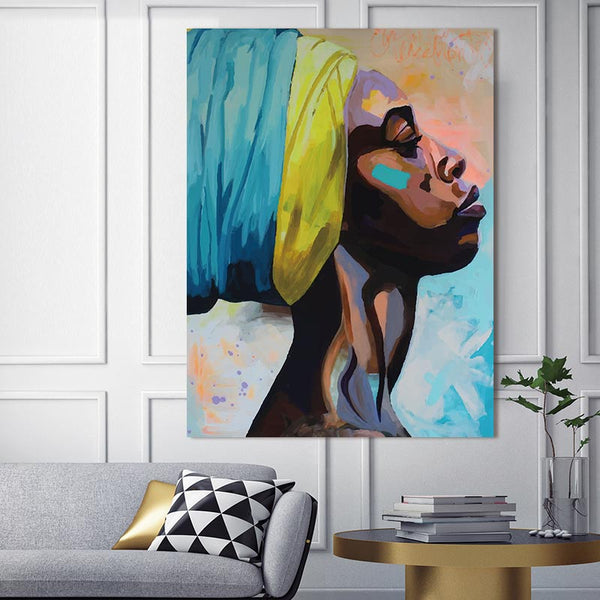 canvas painting figure Picture wall art  Picture portrait  home decor painting abstract  women picuture art poster and prints