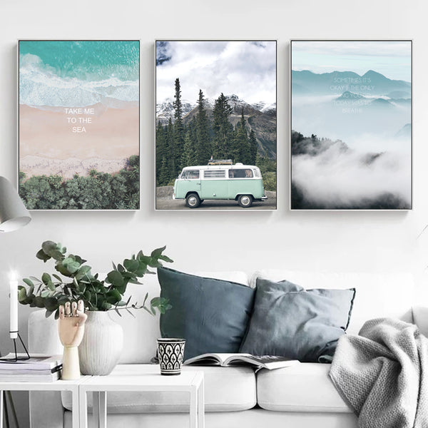 HEYCUADRO  Enjoy Travel Canvas Art Print Painting Poster Wall Pictures for Home Decoration landscape  Decor  HC18131