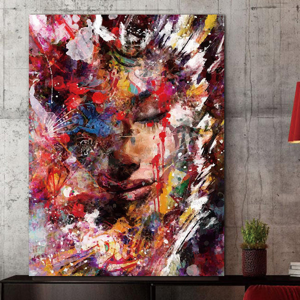 Abstract portrait canvas painting Picture wall art canvas painting prints picuture art wall canvas figure art home decor