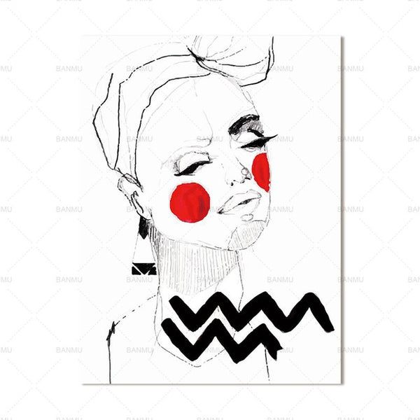 canvas painting Abstract portrait cartoon Picture wall art canvas painting prints picuture art wall canvas figure art home decor