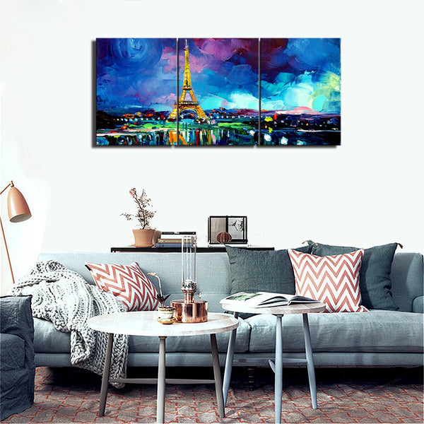 3 Pieces Paris Tower Paintings For Girls Bedroom Canvas Painting For Living Room Wall Art Posters Vintage Home Decor Wall Decor