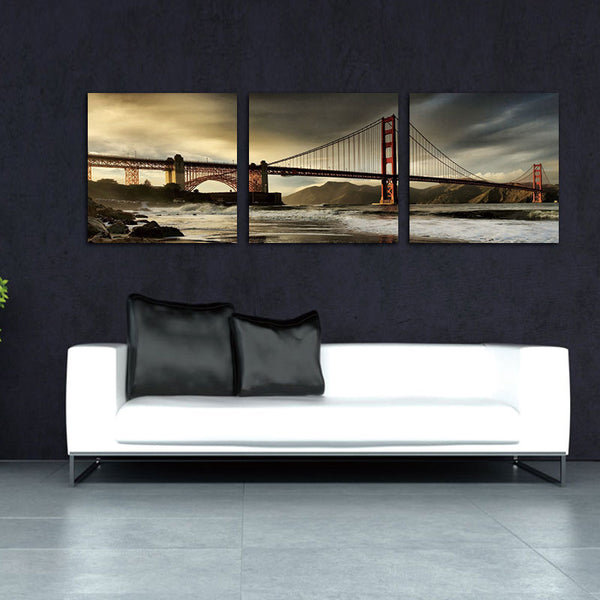 Spirit Up Art Huge San Francisco Golden Gate Bridge Picture Painting on Canvas Print Modern Home Decorations Wall Art