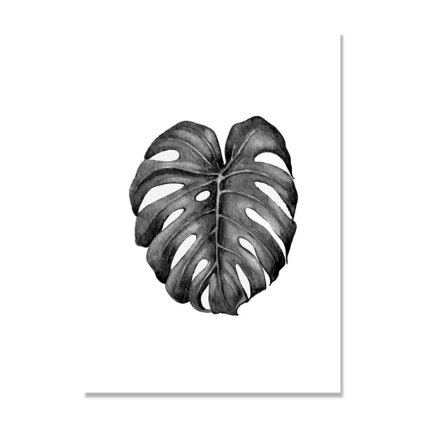 Grey Leaf Pineapple Posters And Prints Wall Art Canvas Painting Nodic Poster Picture Wall Pictures For Living Room Unframed
