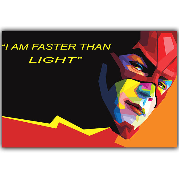 Elegant Poetry Movie Flash DC Comic Character Art Portrait Canvas Painting Print Poster Picture Wall Elegant Child Bedroom Decor