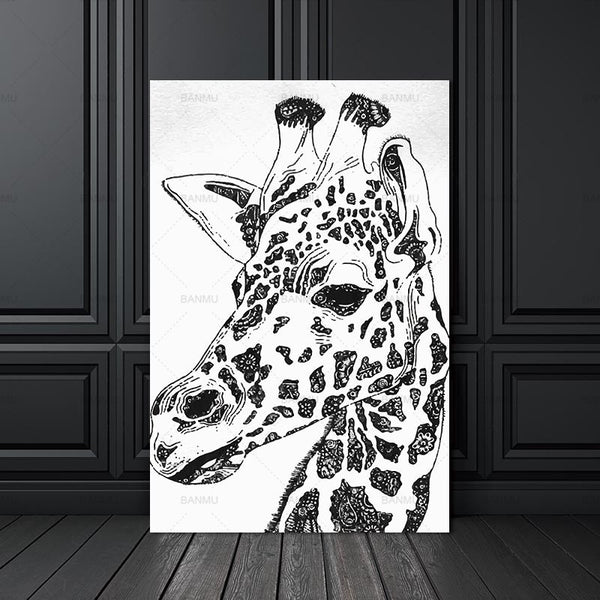 canvas painting animal zebra poster Picture wall art home Decorative Picture for Living Room prints picture art wall for room