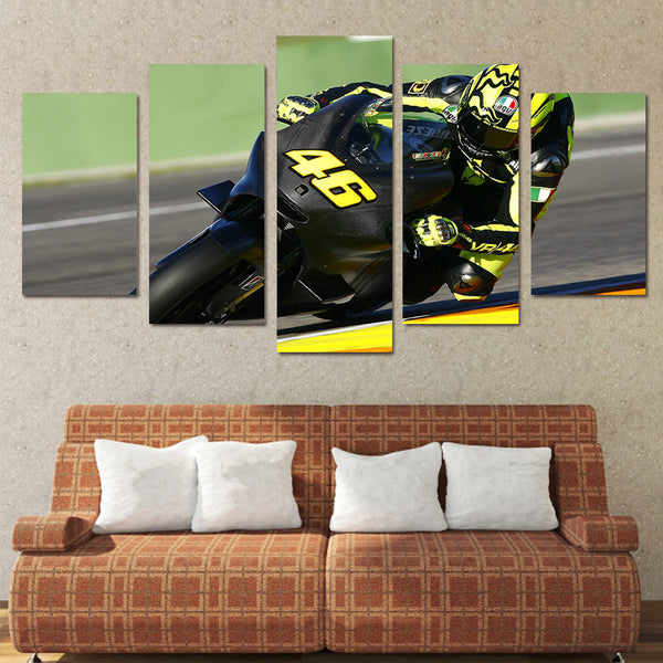 Canvas HD Prints Pictures Modular Home Decor 5 Pieces Motorcycle Racing Painting Framework Race Moto Poster Living Room Wall Art