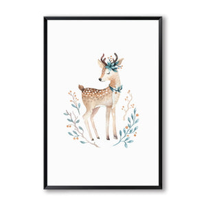 Marvelous Nordic Cute Cartoon Animal Fox Deer A2 A3 A4 Canvas Art Abstract Painting Print Poster Picture Wall Children Bedroom Home Decor Home Remodeling Inspirations Basidirectenergyitoicom