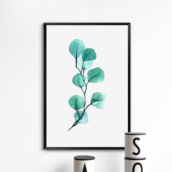 Spring Green Plant Purple Lavender Leaves Flower Canvas Painting Print Poster Picture Wall Modern Minimalistic Home Bedroom Deco