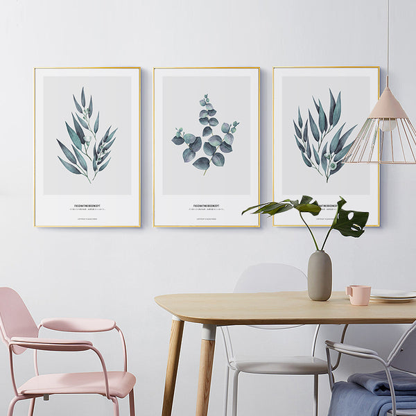 Elegant Poetry Nordic Simple Leaf Decoration Painting Canvas Painting Art Print Poster Wall Picture Home Decoration
