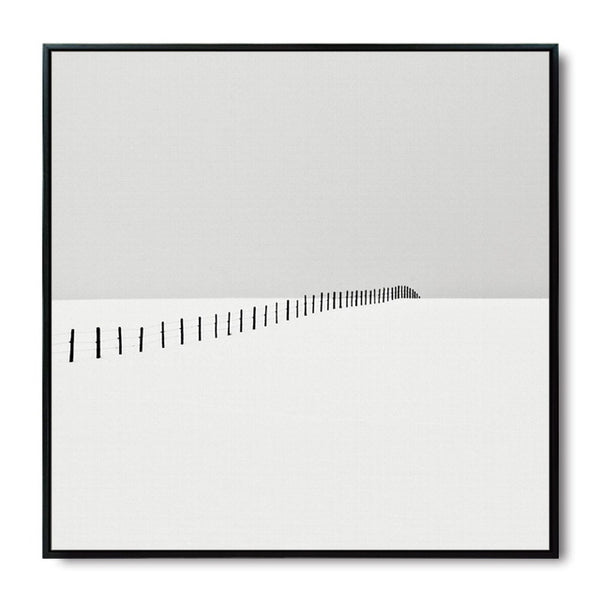 Elegant Poetry Gray Silent Lonely Abstract Scenery Canvas Art Painting Print Poster Picture Wall Inspirational Home Decoration