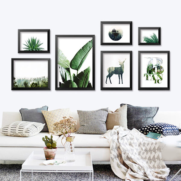 Green Leaf Plants Cuadros Wall Pictures For Living Room Posters And Prints Wall Art Canvas Painting Nordic Poster Unframed