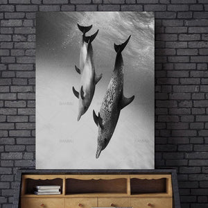 Dolphin Animal Nordic Abstract Wall Pictures for Living Room Art Decoration Picture Scandinavian Canvas Painting No Frame