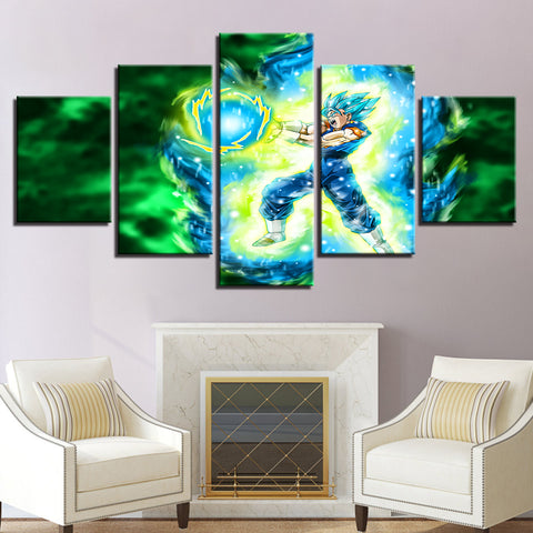 Modular Pictures Canvas Decoration Wall 5 Pieces Animation Cartoon Dragon Ball Painting HD Printed for Living Room Art Framework