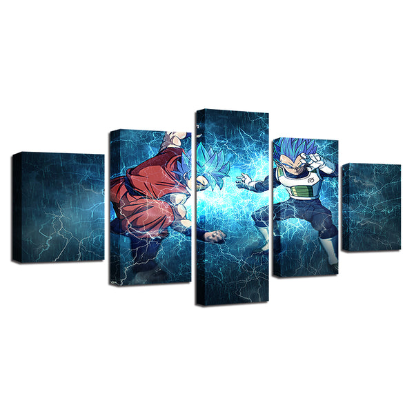 Poster Decoration Modular Painting Canvas HD Prints 5 Pieces Animated Cartoon Characters Dragon Ball Pictures Framework Wall Art