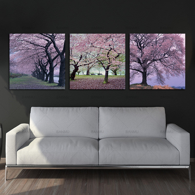 3 Panels  Canvas painting wall art picture Photo Prints Cherry Blossom Trees Wall Art Picture Canvas Paintings Wall Decorations