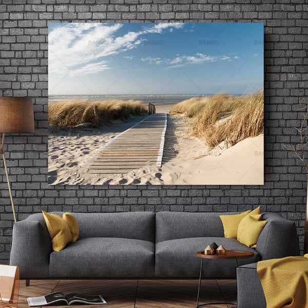 Canvas painting wall art  Photo Prints Beach Views Wall Art Picture Canvas Paintings Wall Decorations Artwork Giclee Paintings