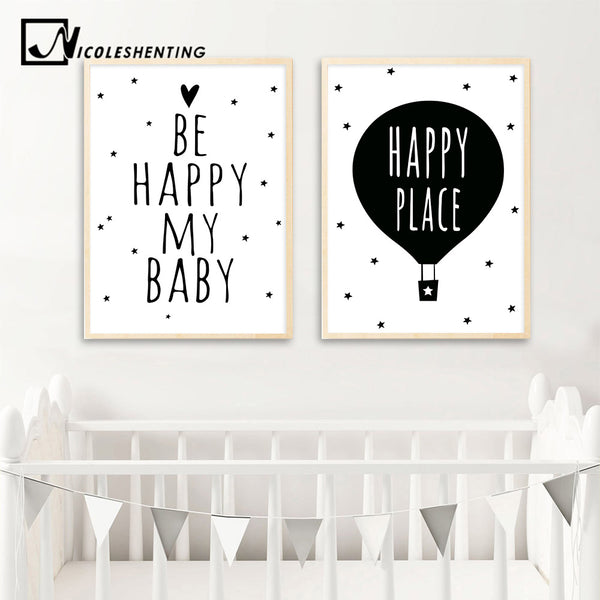 Nordic Art Cartoon Poster Minimalist Canvas Painting Motivational Funny Quotes Wall Picture Modern Children Room Decor 309