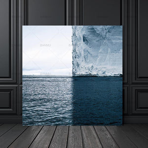 Canvas Painting sea abstract  Wall Art Pictures art prints on canvas Wall poster painting home decoration for living room art