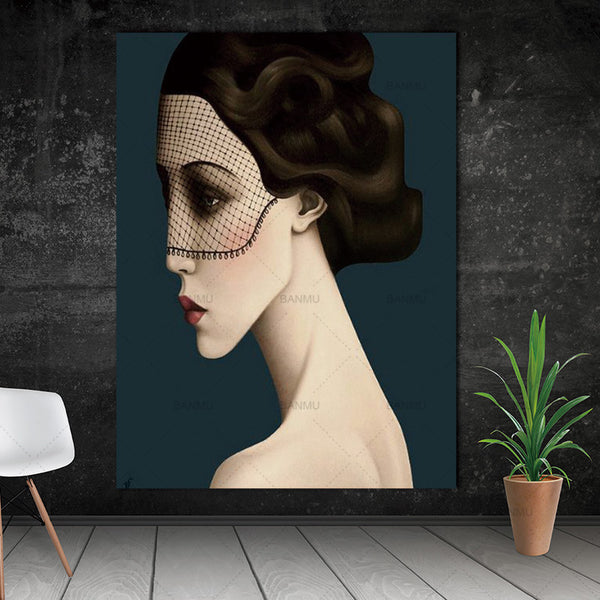 Wall art abstract  figure canvas painting  home deor Wall Pictures print  for living room Art Decoration Pictures morden print