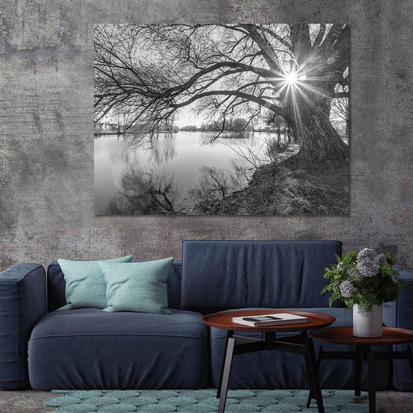 Poster Art Canvas Painting tree and sunset  Pictures art prints on canvas Wall poster painting picture decor art print wall