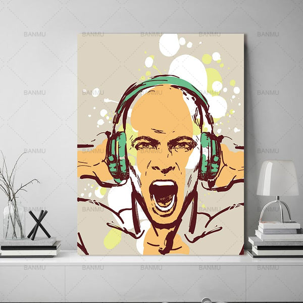 Wall poster portrait  home decor canvas painting print  figure Wall Art Pictures prints on canvas  decoration for living room