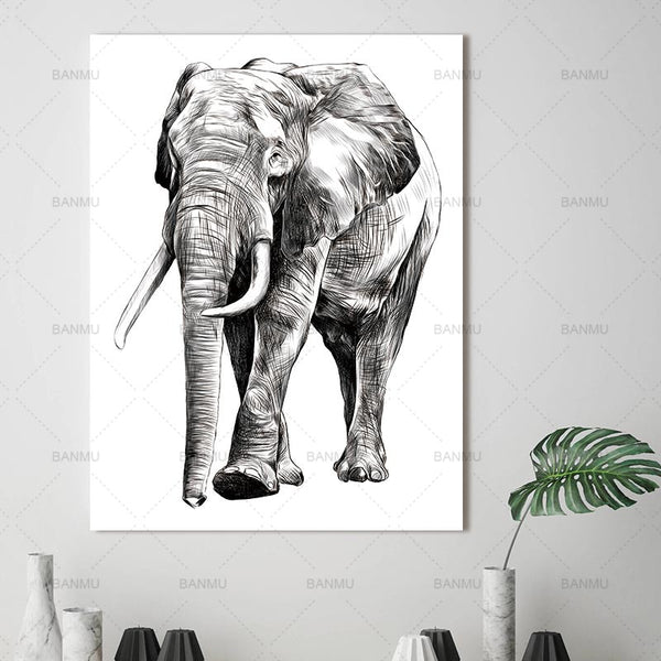 Print canvas painting Animal Wall Art Pictures  prints on canvas no frame home decor Wall poster decoration for living room