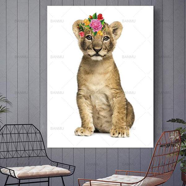Animal canvas painting Picture wall art  Picture portrait  home decor home painting abstract  picuture art poster and prints