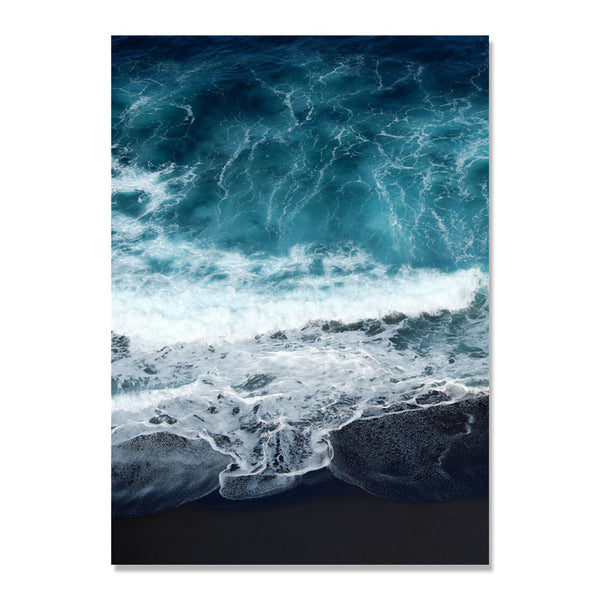 Blue Seawater Beach Nordic Poster Wall Art Canvas Painting Picture Posters And Prints Wall Pictures For Living Room Unframed