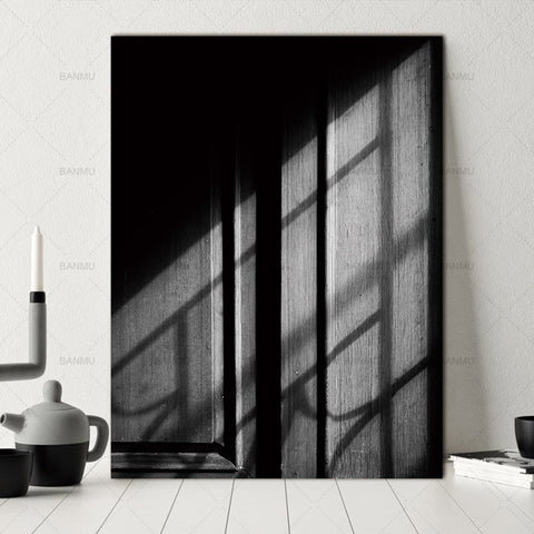 Picture abstract Canvas painting poster wall art print  home decor  Black and white picture door decoration  for living room