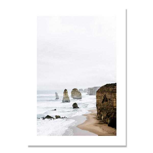 Seawater Stone Landscape Posters And Prints Wall Art Canvas Painting Nodic Poster Picture Wall Pictures For Living Room Unframed