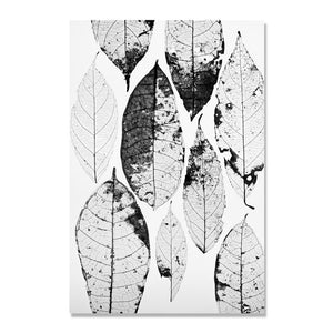 Grey And Black Leaf Posters And Print Wall Art Canvas Painting Nodic Poster Picture Wall Pictures For Living Room Unframed