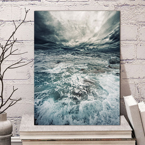 Canvas decoration for living roomCanvas painting Wall art picture print on seawater poster Wall Picture home decor no frame