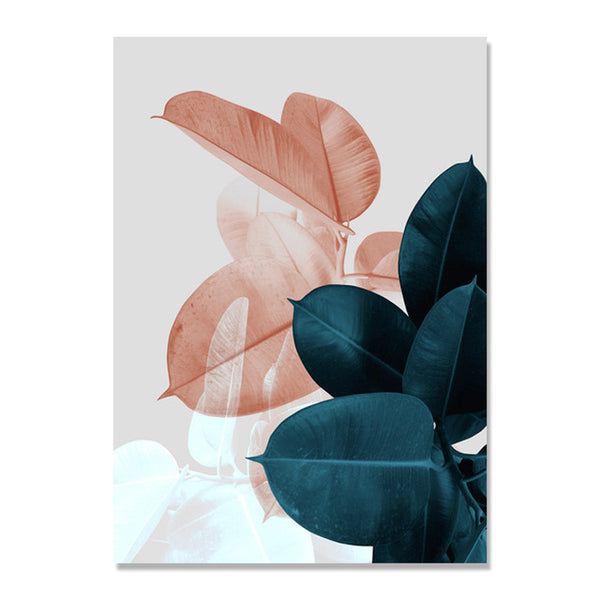 Colorful Leaf Wall Art Canvas Painting Cuadros Posters And Prints Nordic Poster Picture Wall Pictures For Living Room Unframed