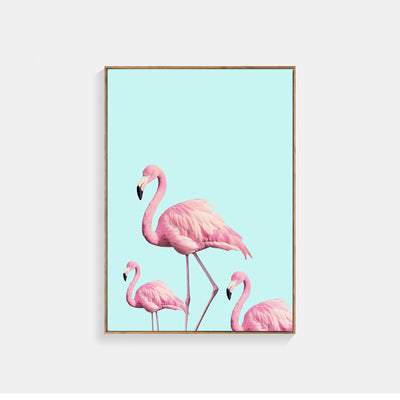 Flamingo Nordic Poster Rose Flowers Posters And Prints Wall Pictures For Living Room Cuadros Wall Art Canvas Painting Unframed