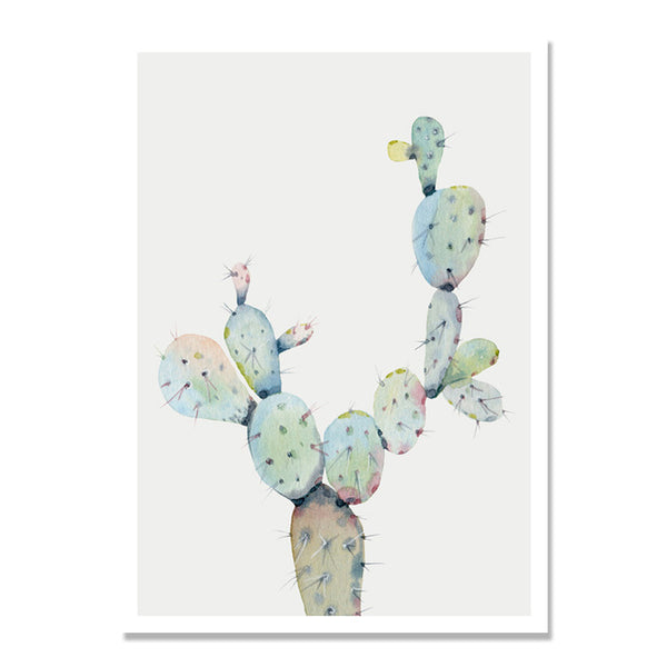 Succulent Plants Cactus Flowers Posters Wall Art Canvas Painting Nordic Poster Picture Wall Pictures For Living Room Unframed