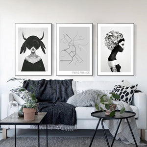 Black Girl Wall Art Canvas Painting Posters and Prints Canvas Art Print Wall Pictures For Living Room Nordic Poster Unframed