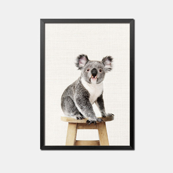 Cute Animal Rabbit Nordic Poster Wall Art Canvas Painting Dark Posters And Prints Koala Wall Pictures For Living Room Unframed