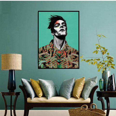 Watercolor Man Wall Pictures For Living Room Cuadros Decoracion Home Posters Wall Art Canvas Painting Nordic Poster Unframed