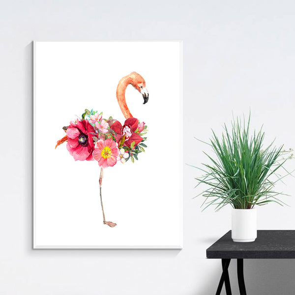 Love Cuadros Decoracion Wall Pictures For Living Room Flamingo Flower Nordic Poster Wall Art Canvas Painting Picture Unframed