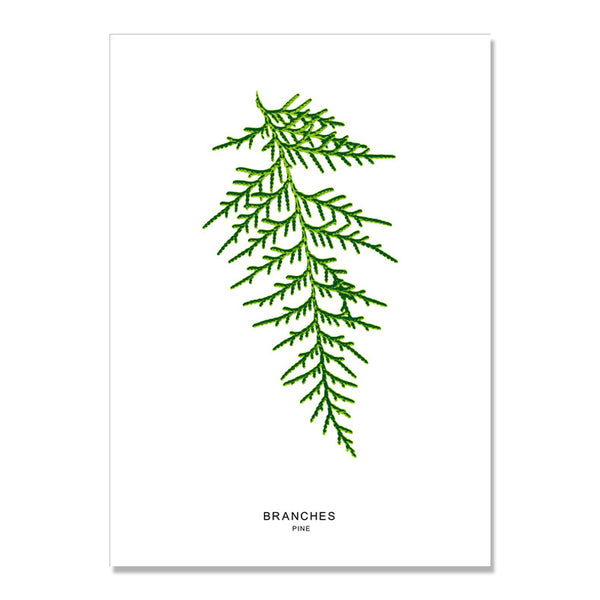 Green Plant Turtle Maple Leaf Nordic Poster Wall Art Canvas Painting Posters And Prints Wall Pictures For Living Room Unframed