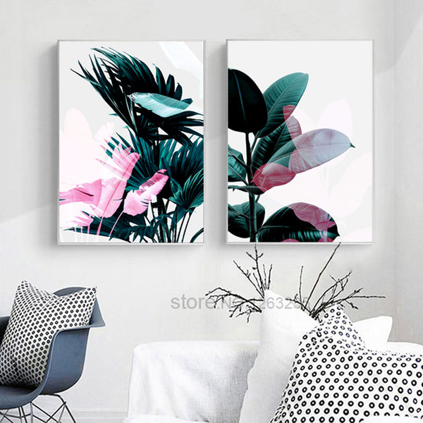 Dark Green Leaves Picture Cuadros Decoracion Wall Art Canvas Painting Nordic Poster Home Decor Posters And Prints Unframed