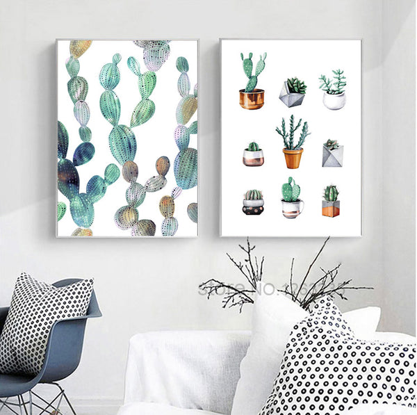 Cactus Picture Potted Plants Cuadros Decoracion Wall Art Canvas Painting Nordic Poster Wall Decor Posters And Prints Unframed